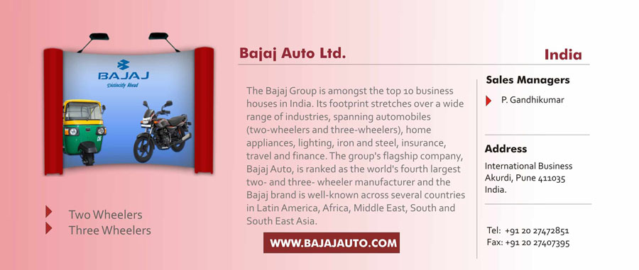 bajaj auto ltd swot The case discusses the business strategy of bajaj auto limited (bajaj auto), a leading indian manufacturer of two wheelers bajaj auto, which sold two wheelers in india since 1945, was the market leader in the indian two wheeler industry till late 1990s.